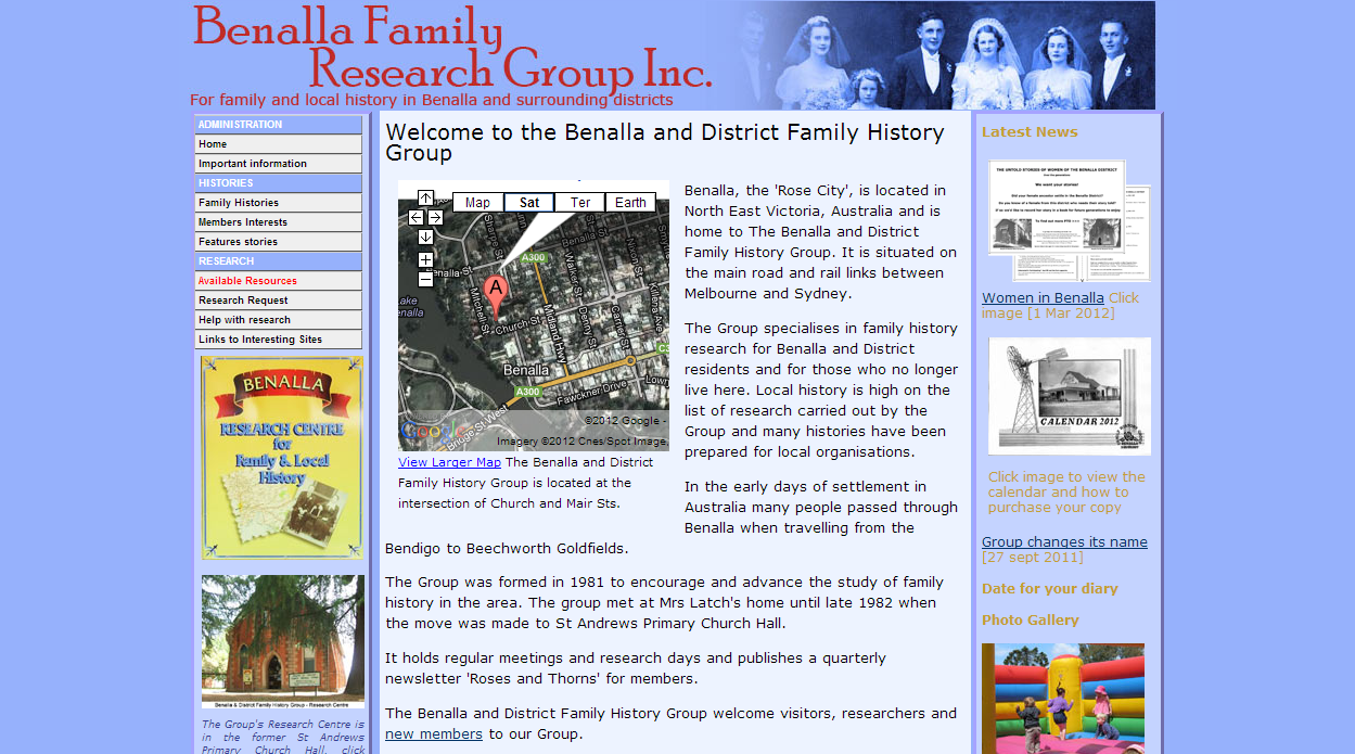 Benalla and District Family History Group