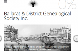 BALLARAT GENEALOGICAL SOCIETY INC - HOME (20160115)